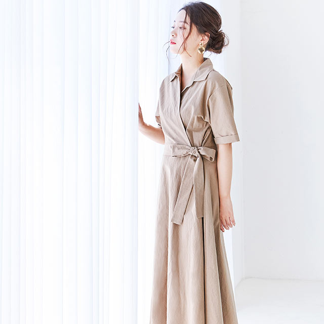 <Spring Sale>cash cool side ribbon onepiece[601E]