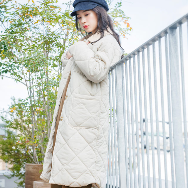 **rinko select**quilted long coat[602K]