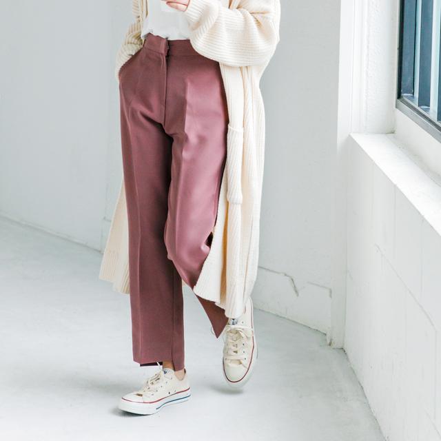 裾ヘムスリットパンツ(全3色)[626M]【入荷済】