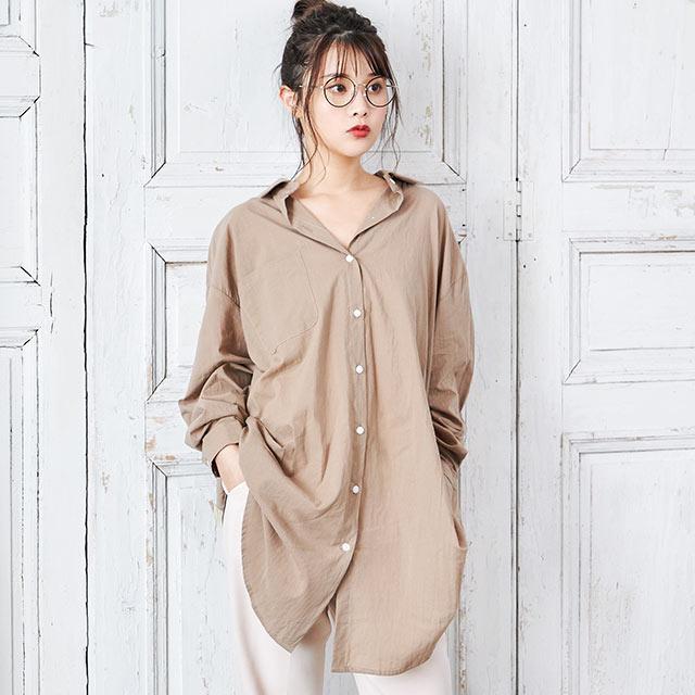 2way asymmetric shirt onepiece[629E]