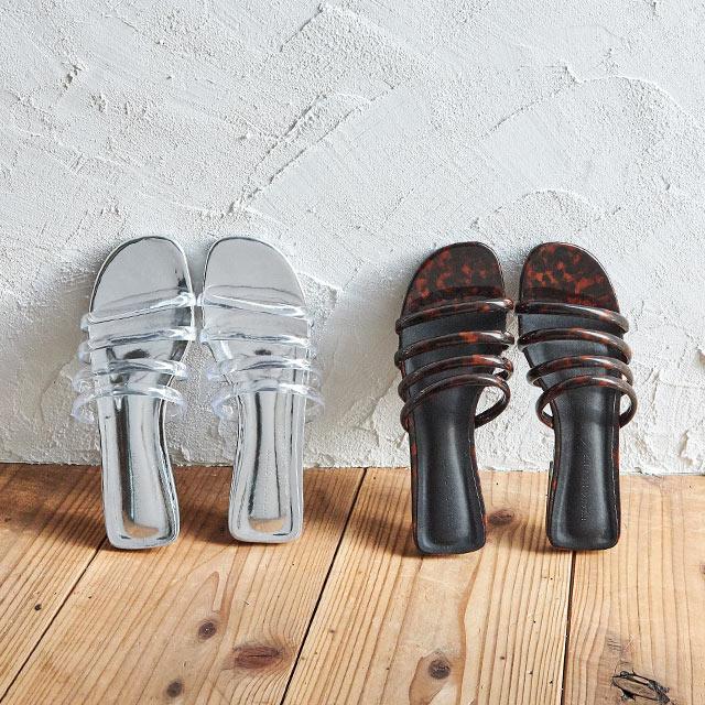 tube flat sandal[637I]
