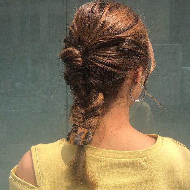 marble hair rubber[674J]