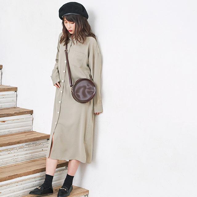 **rinko select**twill long shirt onepiece[680E]