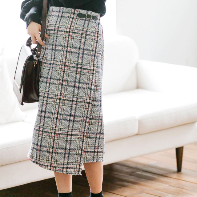 ツイードタイトスカート(全2色)[683M]
