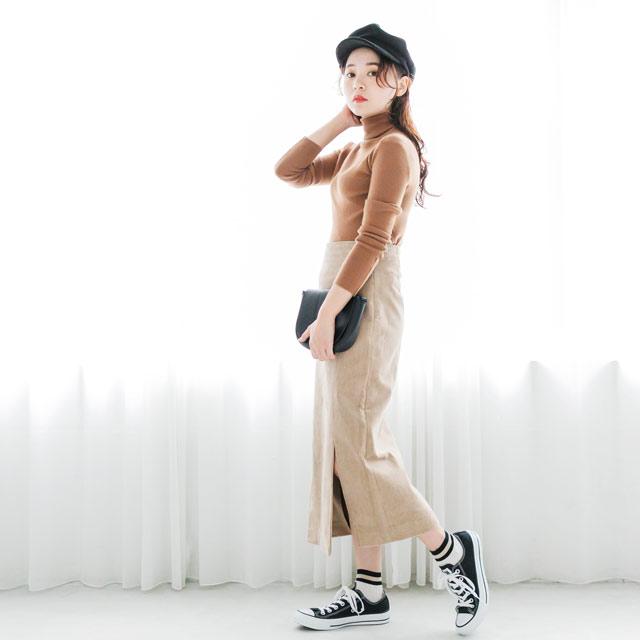 ≪CLEARANCE SALE≫コーデュロイスカート(全2色)[695M]