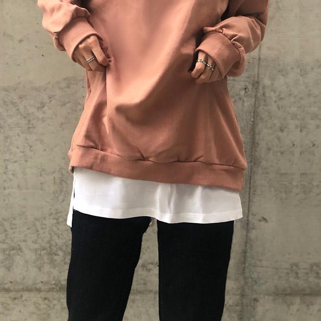 ポイントレイヤードTシャツ(全2色)[697J]