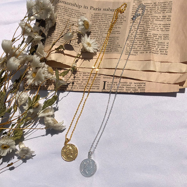 coin necklace[714J]