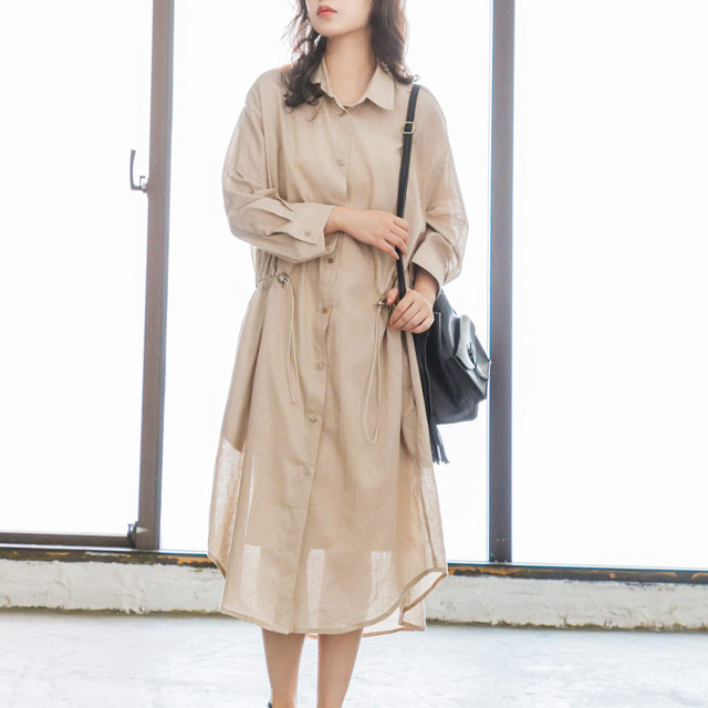 <Spring Sale>drost long shirt gown[725C]