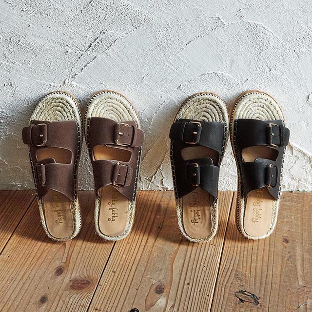 belt flat sandals[726I]