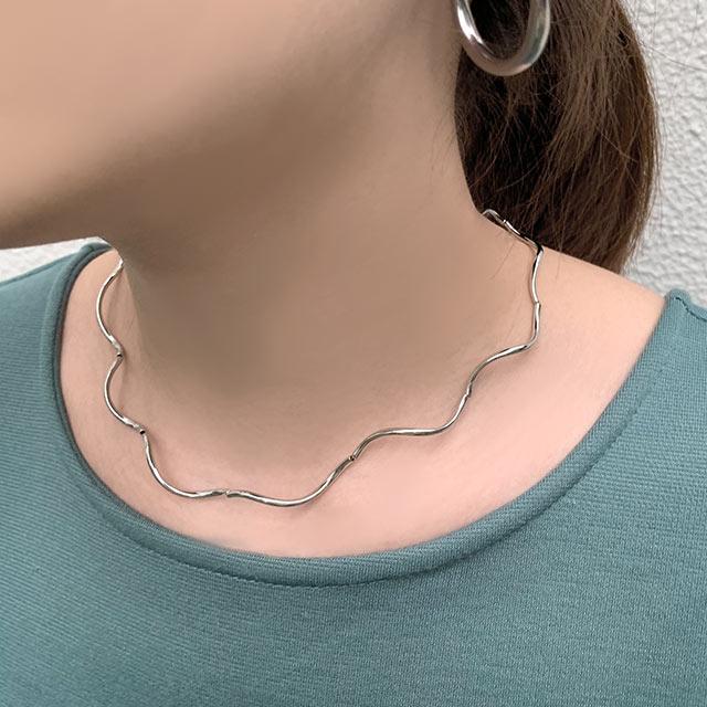 wave necklace[740J]