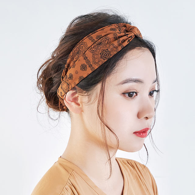 bandana pattern hair band[744J]