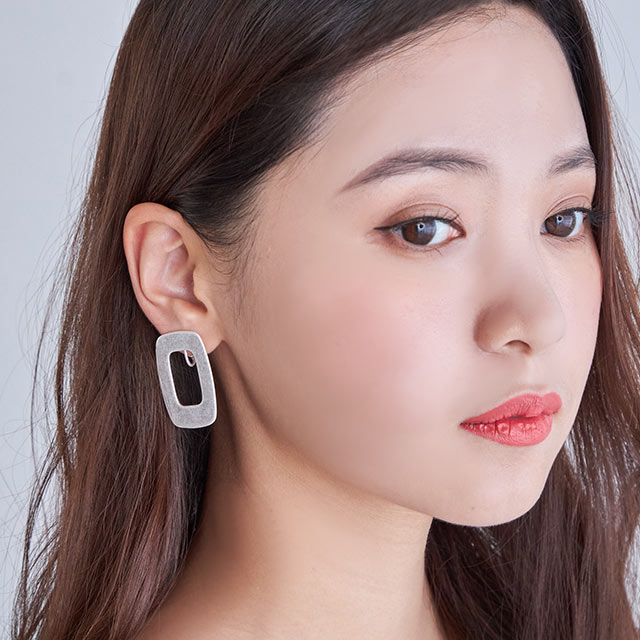 <Final Sale!!>vintage square earrings[755J]