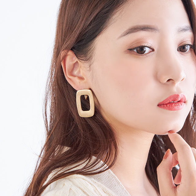 vintage square earrings[755J]