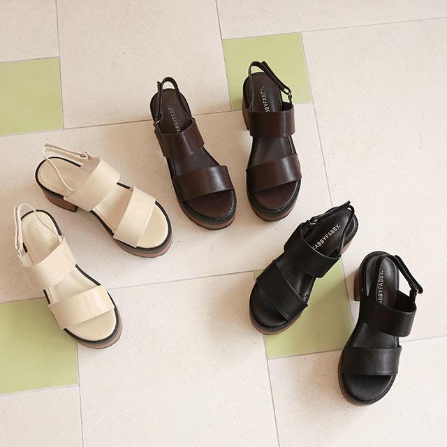 platform heel sandal[756I]