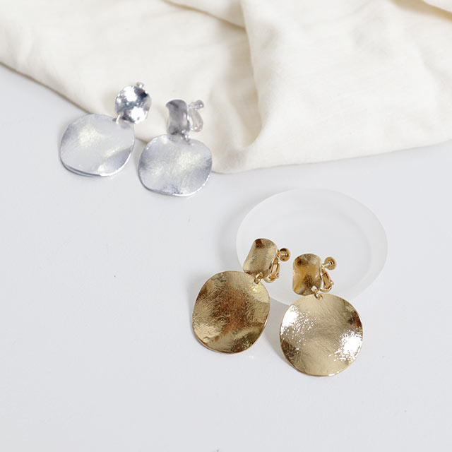 <Summer Sale!!>metal Plate earring[757J]