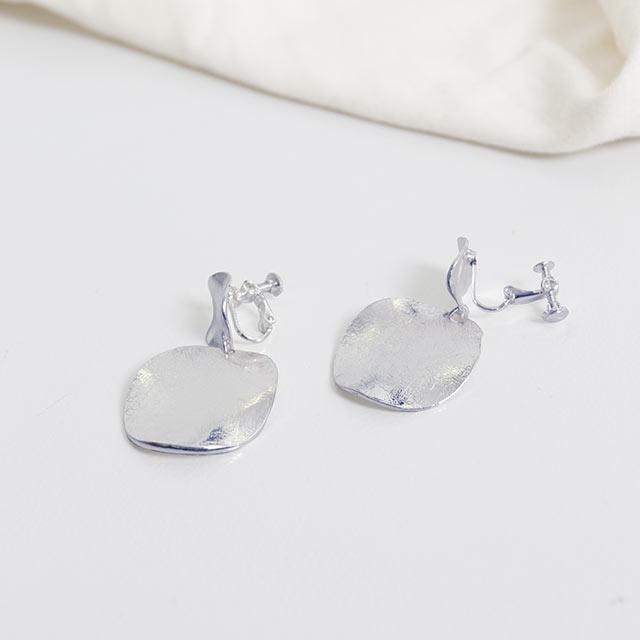 metal Plate earring[757J]
