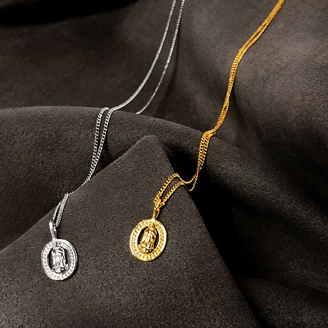 oval coin necklace[775J]