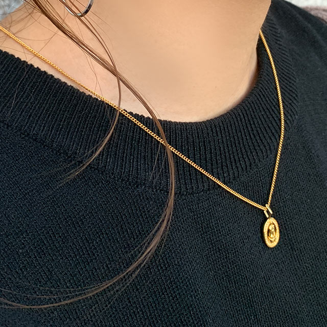 【12/6(fri)19:00〜】oval coin necklace[775J]