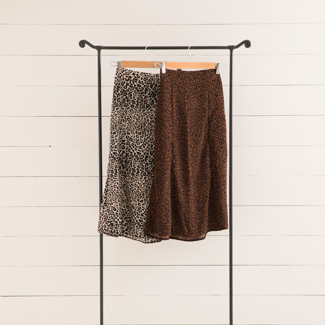<CLEARANCE SALE>leopard print flare skirt[776M]