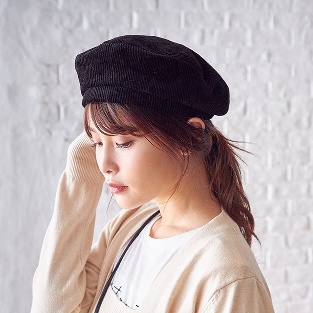 corduroy beret[778J]