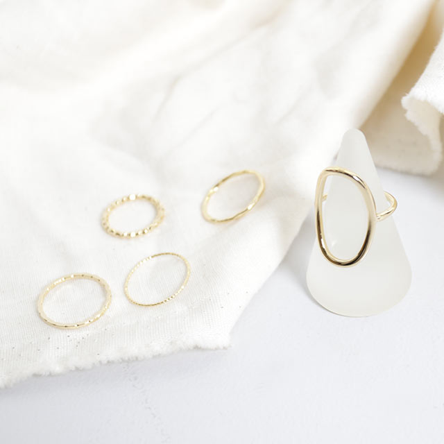 oval set ring[779J]