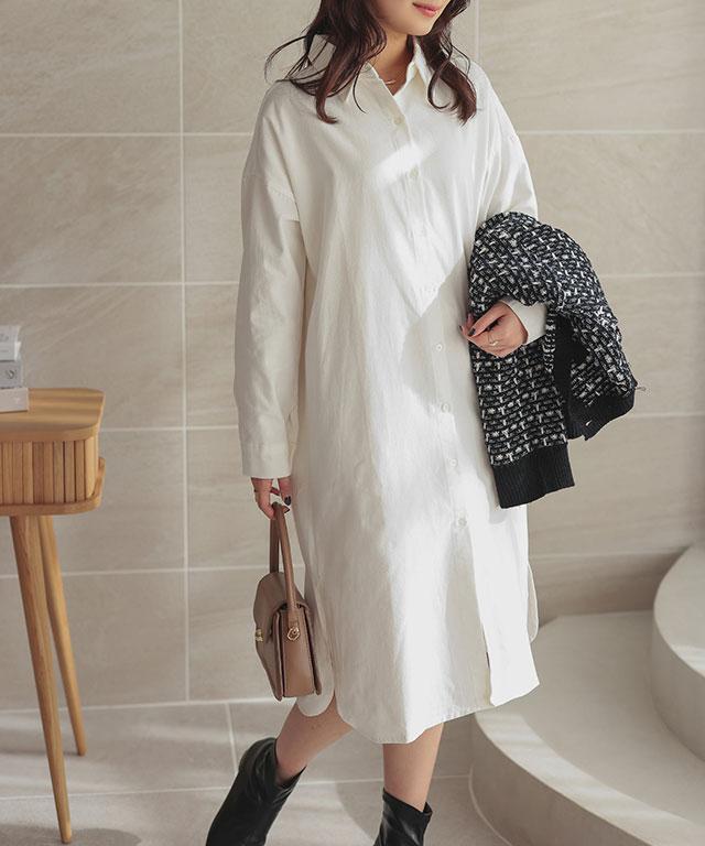 round hem shirt onepiece[782E]