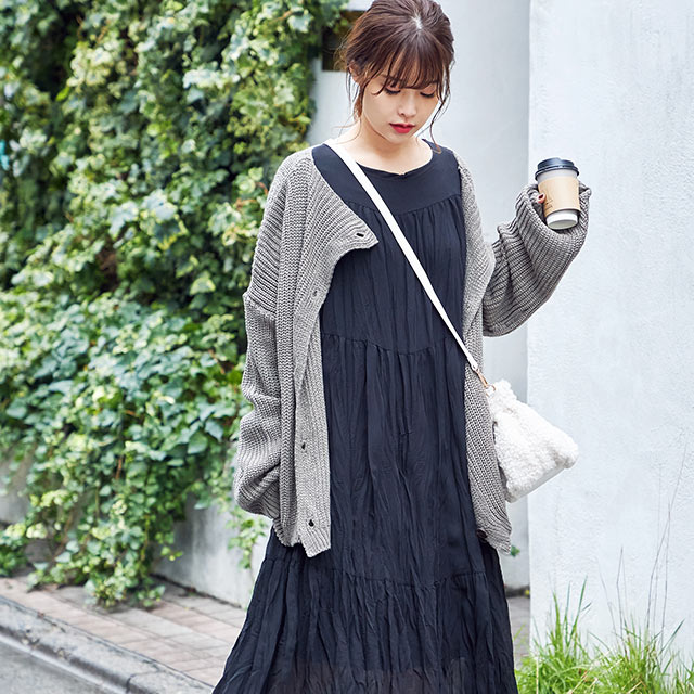 crinkle tiered onepiece[809E]