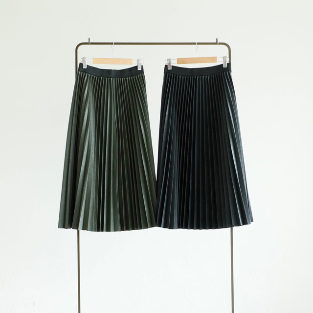 ≪CLEARANCE SALE≫レザープリーツスカート(全2色)[816M]