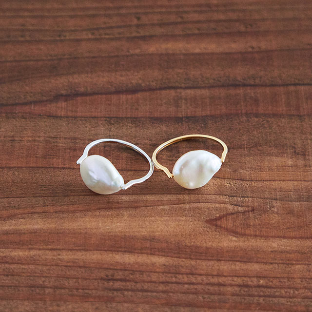 【4/9(thu)19:00〜】pearl motif ring[834J]