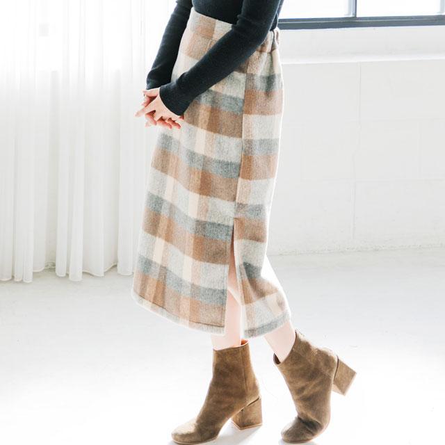 チェックタイトスカート(全2色)[841M]