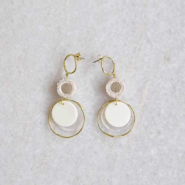 mix circle piasu or earring[853J]