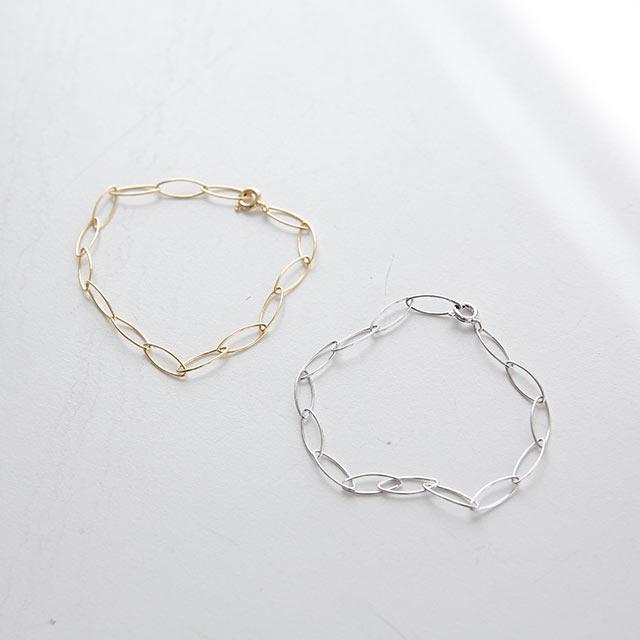 silver 925 circle chain bracelet[857J]