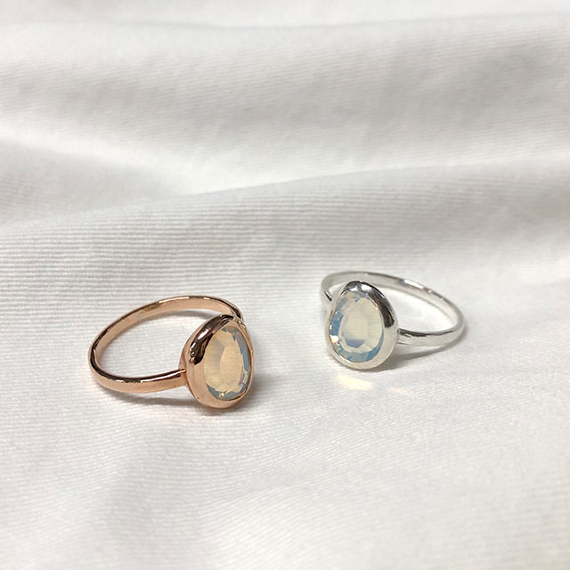 silver 925 stone point ring[859J]