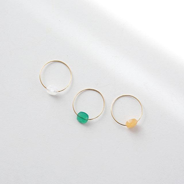 silver 925 colore stone ring[860J]