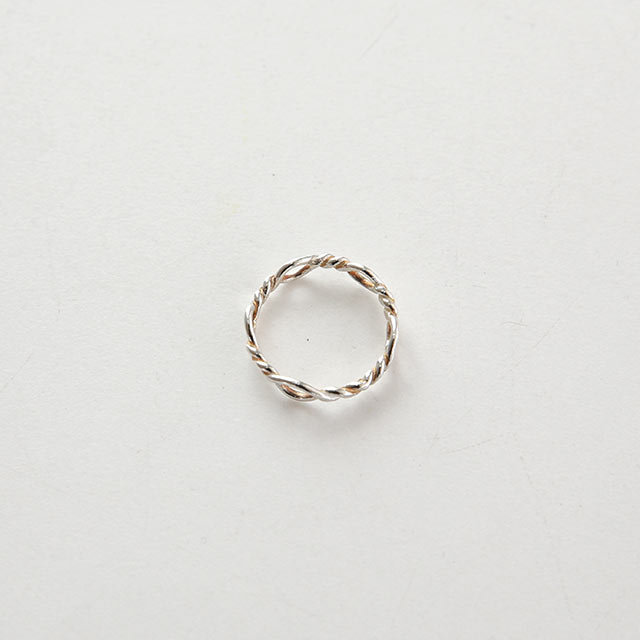 silver 925 twist ring[861J]