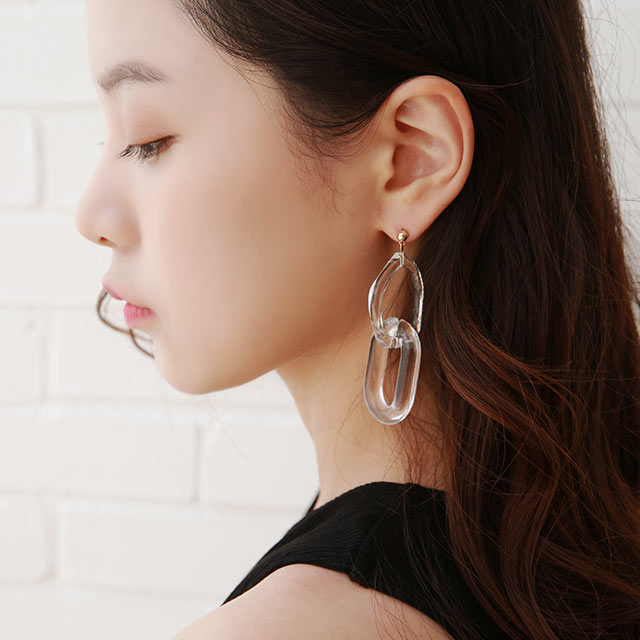 acrylic hoop piasu or earring[869J]