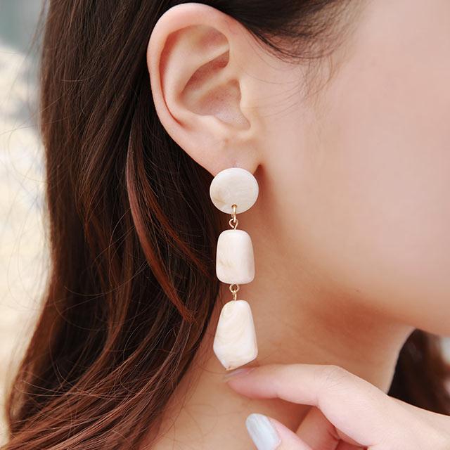 3 line acrylic piasu or earring[871J]