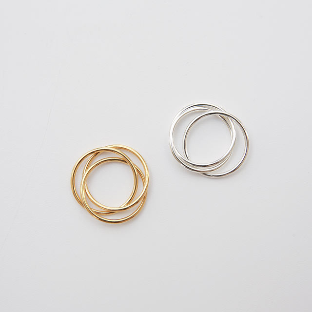 silver925 3line ring[874J]