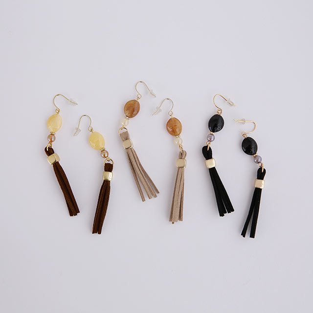 tassel motif piasu or earring[880J]