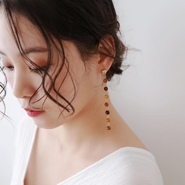 【8/13(thu)19:00〜】colorful beads piasu or earring[881J]