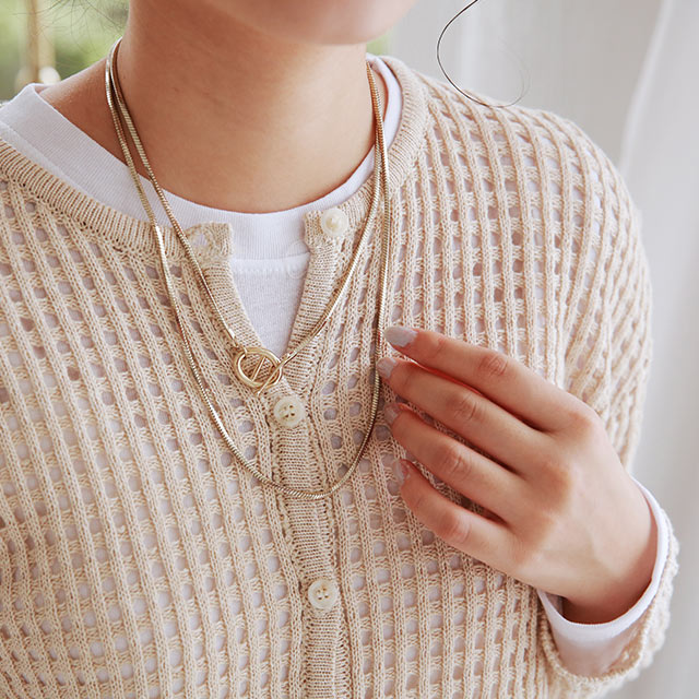 buckle point necklace[887J]