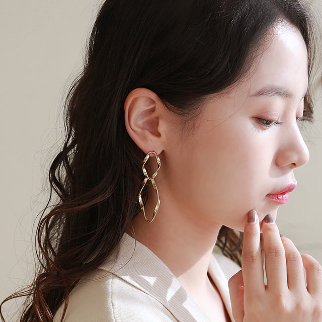 double hoop piasu or earring[905J]