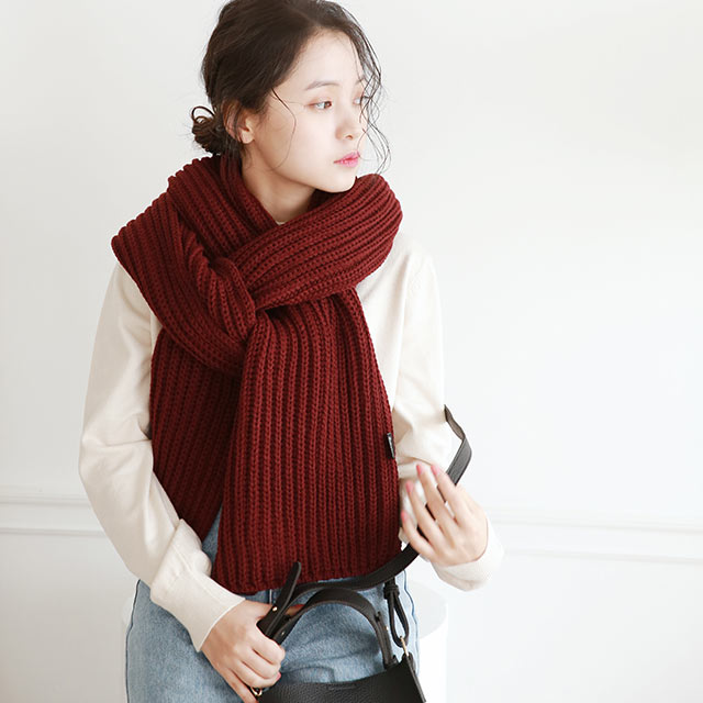 knit volume long muffler[908J]