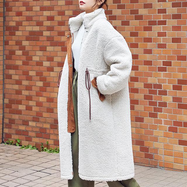 piping boa coat[909K]