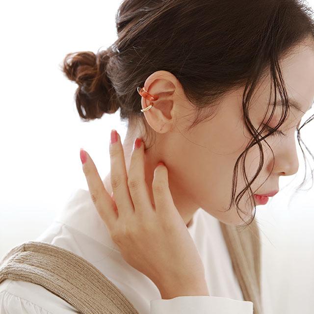 metal & clear ear cuff set[920J]