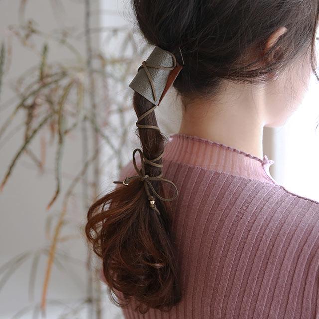 FL ribbon hair cuff[922J]
