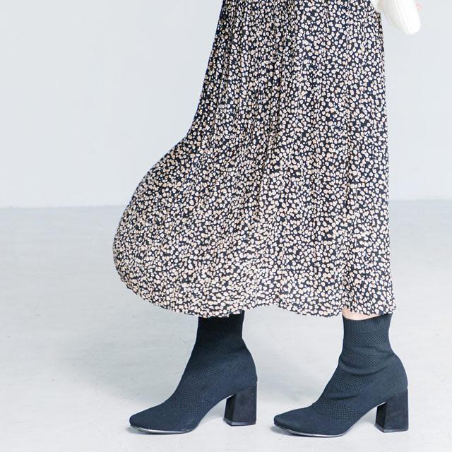 小柄レオパードプリーツスカート(全2色)[932M]