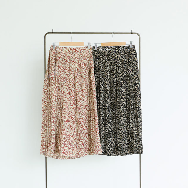 <FINAL SALE>petite leopard pleated skirt[932M]