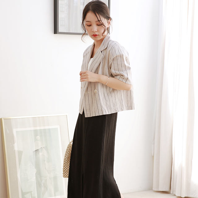 stripe summer short jacket[955K]