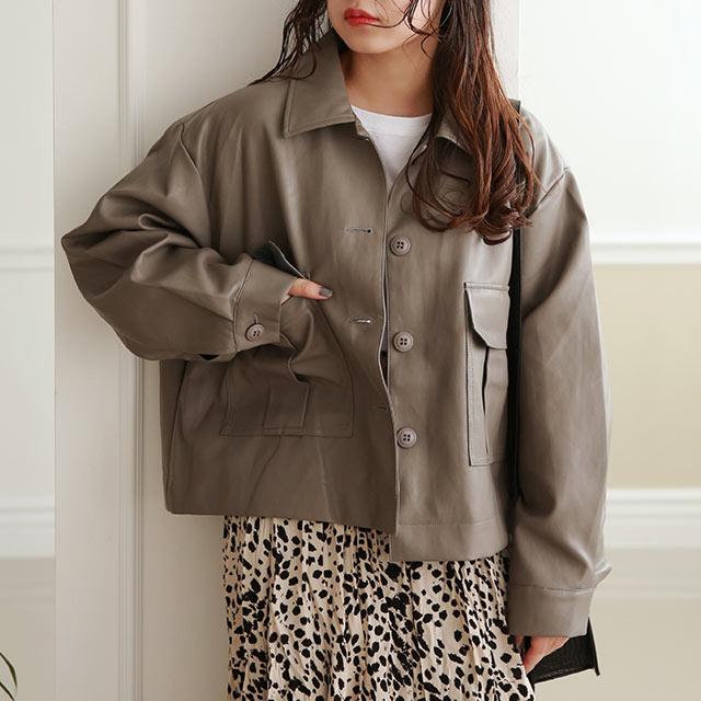【10/20(tue)19:00〜】fake leather short jacket[974K]